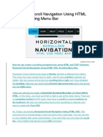 Horizontal Scroll Navigation Using HTML CSS