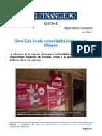 Articulo sobre Cocacola en Chiapas
