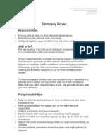 Job Description Company Driver.docx