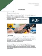 Job Description Electrician.docx