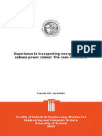 Experience in Transporting Energy Through Subsea Power Cables-The Case of Iceland