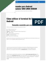 Lista Comandos Android Terminal Emulator Gnu Linux Debian