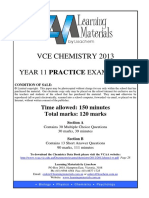 [VCE Chemistry] 2013 LisaChem Unit 1 Exam and Solutions