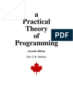 37997710 Hehner a Practical Theory of Programming 2004