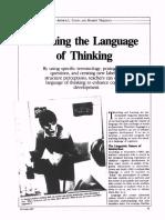 Artikel Teaching the Language of Thinking