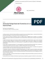Activa EU Fichaje Facial de Fronterizos en Cruces Peatonales Hacia El Paso Observatorio de Legislación Y Política Migratoria