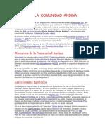 La Comunidad Andina Comercio