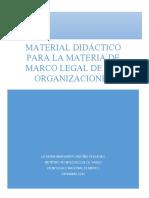 Apuntes Marco Legal de Las Organizaciones