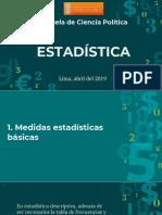 estadística de medidas básicas