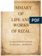 Summary Rizal
