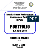 RPMS Cover Page