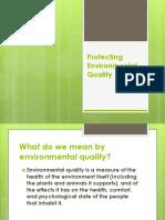 8.0 Protecting Environmental Quality
