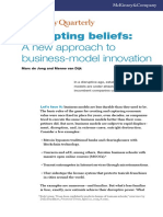 """De Jong, M. & Van Dijk, M. (2015). """"Disrupting Beliefs a New Approach to Business Model Innovation"""". McKinsey Quarterly. July"""