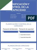 Planificación y Control de La Capacidad