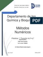 Reporte de práctica (1) Función ln(1+x)