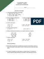 Evaluaciones Final  4 grado