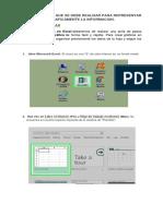 Manual, Instructivo Del Proceso Grafico Circular