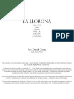 Partitura General - La Llorona SATB y Orquesta - Arr. David Conte