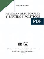 Nohlen Dieter - Sistemas Electorales Y Partidos Politicos