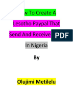 How to Create a Lesotho Paypal