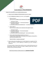 Requisitos Título Profesional