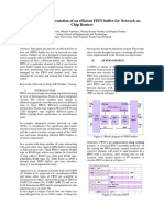 Design of an Efficient FIFO Buffer for Network on Chip Routers