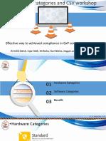 GAMP 5 Categories & CSV