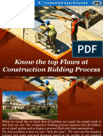 Know the Top Flaws at Construction Bidding Process