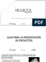 p. Innovacion Guia de Presentacion de Proyectos