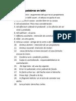 Palabras en Latin 02