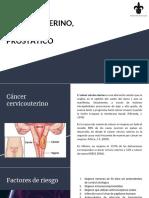 Cáncer Cervicouterino, Mamario y Prostático