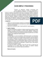 Destilacion Simple y Fracionada[1]