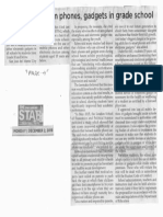 Philippine Star, Dec. 2, 2019, Bill seeks ban on phones, gadgets in grade school.pdf