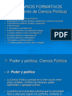 Seminarios Formativos 1- Poder y Política