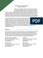 Consumer Behavior - Course Syllabus - September 2014 HBS
