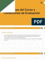 Normas Del Curso y Condiciones de Evaluación(2)