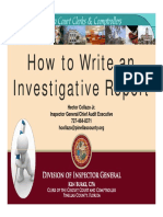 How to Write an Investigative report