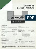 Dual HS 38 Service Manual