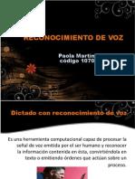 Reconocimiento de Voz PDF