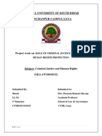 Criminal Justice System and Human Right Protection