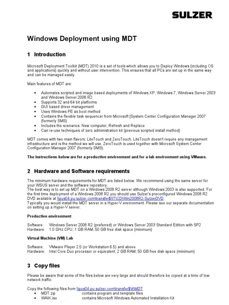 Windows Deployment Using MDT | Hyper V | Microsoft Windows