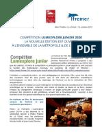 Texte Lancement Lumexplore Junior 2020