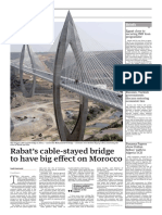 Cable-stayed bridge in Morocco
