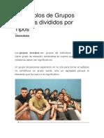 9 Ejemplos de Grupos Sociales Divididos Por Tipos