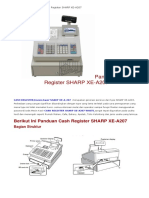 Panduan Cash Register SHARP XE-A207