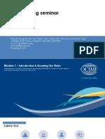 OCIMF SIRE Training Seminar