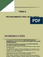 TEMA 6 RECONOCIMIENTO ORAL DE PALABRAS