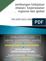 Arah Pengembangan Kebijakan Kesehatan