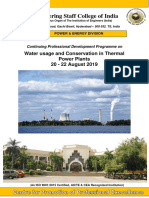 Water Usage and Conservation -20-22 Aug 19