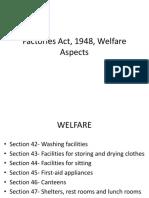 Factories Act, 1948, Welfare Aspects